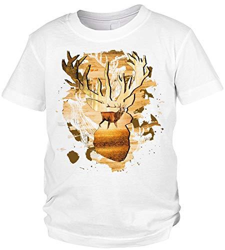Kinder-Shirt Jäger Motiv / Spruch, Jagdmotiv Hirsch Kind : Hirsch -- Jagdsport Kinder T-Shirt Bekleidung Gr: M = 134-140