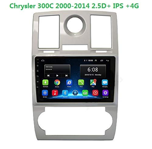Chrysler 300C Android 9.1 Car DVD Radio GPS Navigation Stereo Audio Navi Video with Bluetooth Calling WiFi Touch Screen 4G 2000-2014 2.5D IPS (300C Chrysler 2 32GAndroid9.1)