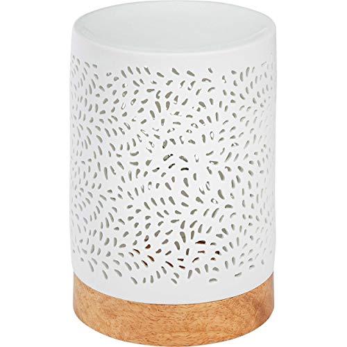 ONVAYA® Duftlampe Jan | Elektrisch | Farbe: Creme weiß | Aroma Diffuser | Aromalampe | Duftstövchen | Modernes Duftlicht (Jan)
