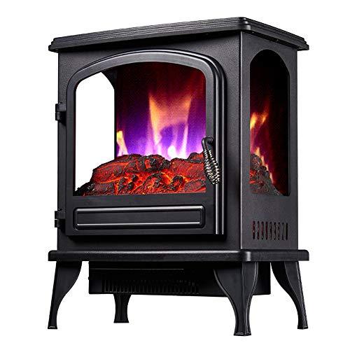 YYBF Calefacción Auxiliar Estufa eléctrica con LED Realista Entrar Fuego Llama Efecto, Ajustable termostato, protección contra sobrecalentamiento,
