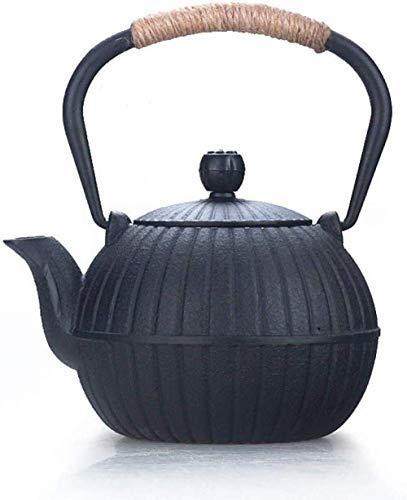 Tetera, Tetera de hierro fundido, conjunto Tetera Juegos de té Teteras moldeada Tetera de hierro fundido té ollas de hierro tetera de hierro pequeño bote de calabaza Hierro Negro olla de hierro fundid