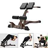Household Fitness Roman Chair Adjustable,Maximum Load 660lbs Hyper Back Extension AB Bench Hyperextension