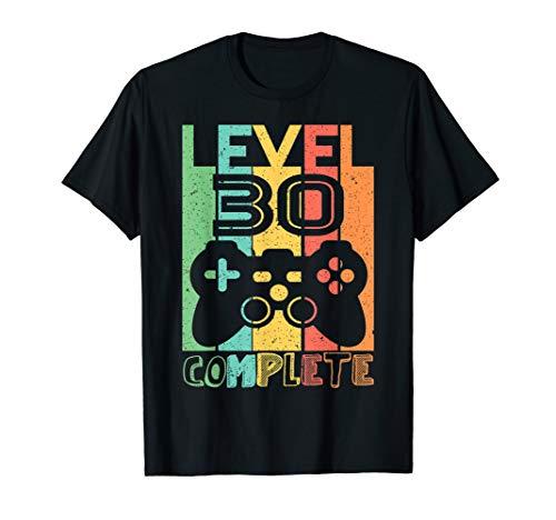 30 Geburtstag Geschenk - Level 30 Komplett Shirt Video Gamer T-Shirt