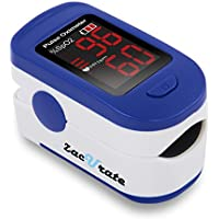 Zacurate 500BL Fingertip Pulse Oximeter Blood Oxygen Saturation Monitor (Navy Blue)