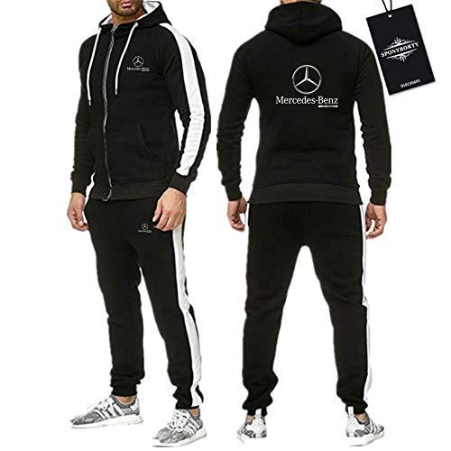 Jasmin Busse Cerniera Tracksuit Impostato Due Pezzi per Mercedes-Ben.Z A_M.G Adatto Uomini e Donne Banda Cappuccio Giacca +. Pantaloni (Abbigliamento Sportivo) R/Schwarz/L