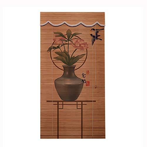 Persiana Enrollable Persianas de bambú Blackout Retro Rodillo de bambú Persianas Las Cortinas para Las Ventanas a Prueba de polillas y la Prueba de Humedad se Pueden enrollar