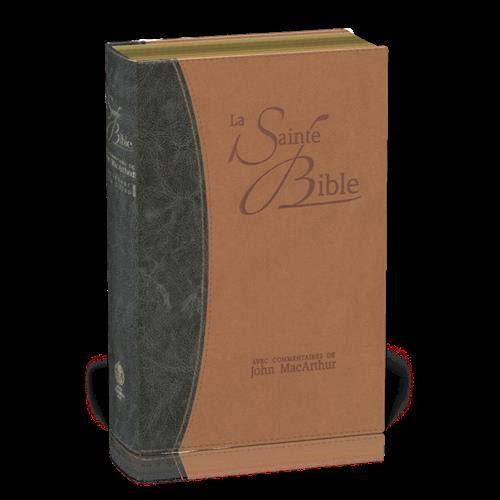 Bible NEG MacArthur : couverture souple Vivella, tranches or