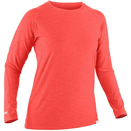 NRS Women's H2Core Silkweight Long Sleeve Shirt-Cayenne-L