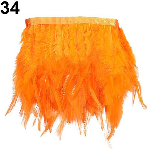 Flecos de plumas de ganso,1 m, para bodas, manualidades, costura, disfraces