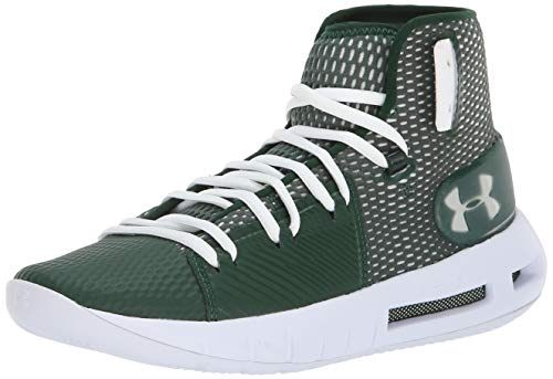 Under Armour Men's Drive 5 Basketball Shoe, Forest Green (300)/White, 8.5