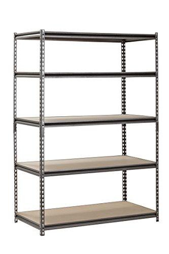 "Muscle Rack UR482472PB5PAZ-SV Silver Vein Steel Storage Rack, 5 Adjustable Shelves, 4000 lb. Capacity, 72"" Height x 48"" Width x 24"" Depth Arkansas"