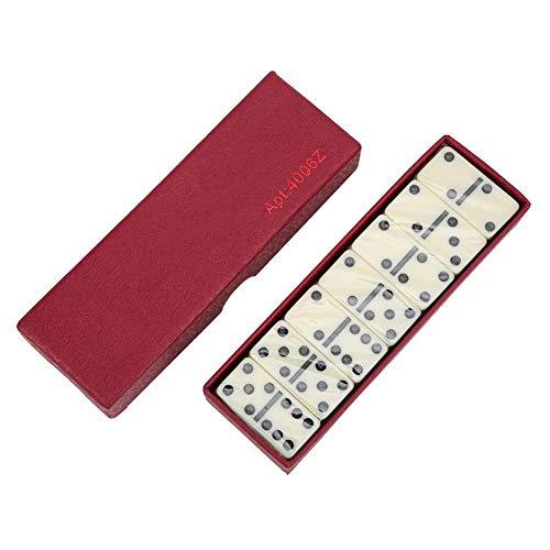28 Pezzi Domino IX, Domino Gioco di Puzzle Giocattolo Educativo Intelligence Puzzle Pensiero Logico Gioco Educazione Precoce Giocattolo Cognitivo Compleanno Natale Regalo per Bambino Adulto (Rosso)