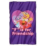 Sesame Street Friendship Officially Licensed Fleece Blanket 36' x 58'