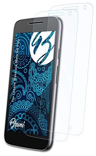 Bruni Schutzfolie kompatibel mit Lenovo Motorola Moto G4 Play Folie, glasklare Bildschirmschutzfolie (2X)