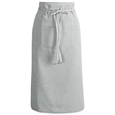 DII Cotton Chambray Bistro Half Waist Apron with Pockets and Extra Long Ties, 30 x 28, Cooking, Baking Apron, Uniform for Bartender, Waiter, Waitress, Coffee shop, Restaurant-Artichoke Green