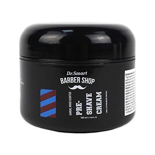Dr. Smart Barber Shop Pre Shave Cream [2 Types: Sandal Wood & White Soap] 100ml (Sandal Wood)
