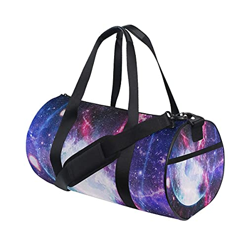 Bolsa de deporte para gimnasio, galaxias de estrellas en el espacio exterior, bolsa de deporte de natación, con compartimento para zapatos y bolsillo húmedo para mujeres o hombres