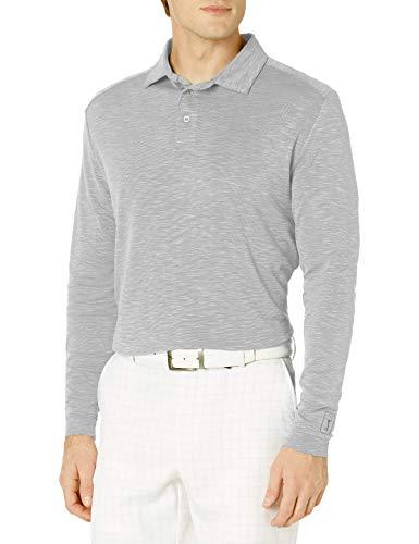 PGA TOUR Herren Long Sleeve Slub Polo Golf-T-Shirt, Tradewinds, X-Large