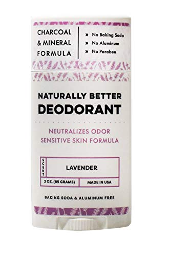 Lavender Naturally Better Deodorant - Magnesium & Activated Charcoal, Sensitive Skin Formula, Aluminum-Free, Baking Soda-Free, All-Natural, Plant-Derived, Made in USA by DAYSPA Body Basics