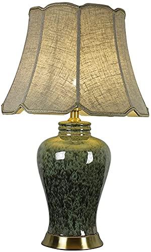 GXFJKHGHHG Abat Jour da Comodino lampade da Comodino Lampada da Comodino retrò di Lusso in Ceramica Lampada da Comodino Moderna Minimalista Lampada da Soggiorno in Rame per Studio Lampada Decorativa