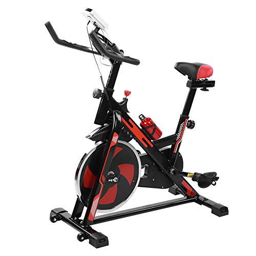 Flywheel 8KG Bicicleta de Spinning Bicicleta de Ejercicio Bicicleta de Fitness Bicicleta de Spinning Cardio Mute Equipo de Ciclismo Interior Ajustable, con Soporte para Botella