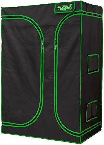 VITA5 Grow Box 2-in-1 | Serra Indoor per la Coltivazione Indoor | Tela Leggera e antistrappo | Impermeabile growbox (150x120x200)
