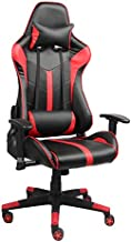 Racoor Video Gaming Chair, Black and Red - H 131 cm x W 68 cm x D 50 cm