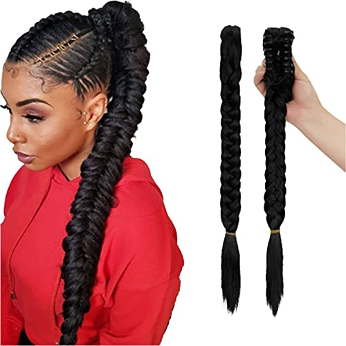 """FUT 21"""" Long Fishtail Braid Ponytail Hair Extension Synthetic Claw Jaw Braiding Ponytail Hairpiece"""