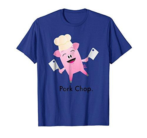 Pork Chop Pun - Happy Pig Chef Cartoon Shirt