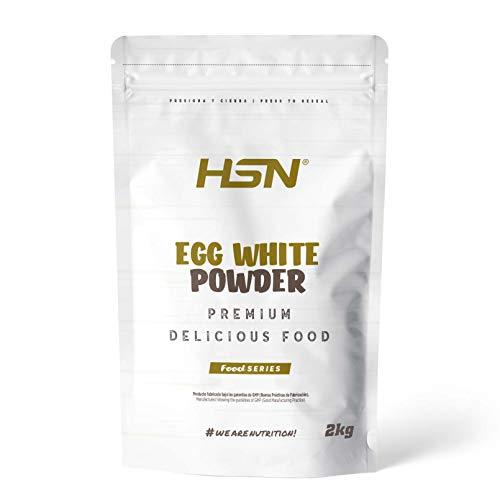 HSN Albumina de Huevo 100% Clara de Huevo en Polvo Deshidratada | Proteína Natural | Sin Grasas, Sin Colesterol, Vegetariano, Sin Gluten, Sin Lactosa, Sabor Natural, 2 Kg