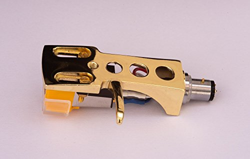 Gold plated Headshell, cartridge, needle for YAMAHA YP211, YP400, YP450, YP700, YP701, YPB2, YPB4, YP800, YPD6, YPD71, YPD8, P500, - MADE IN ENGLAND