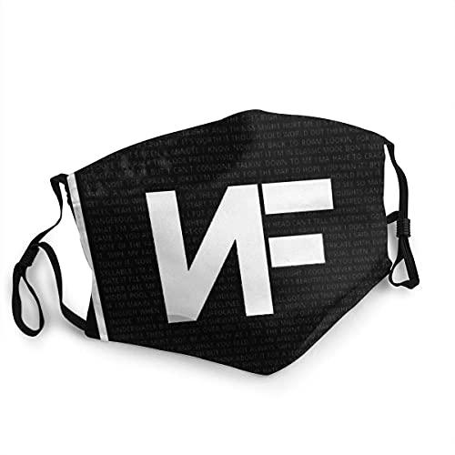 HOLEBUKL NF Logo Unisex Black Protector bucal Lavable Polvo Reutilizable para Mujer Hombre