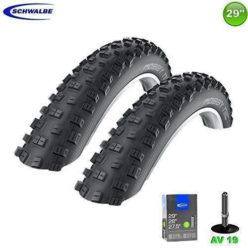 2X Schwalbe Nobby Nic Neumático de la Bicicleta 29 X 2,25 57-622 + 2 Mangueras AV19
