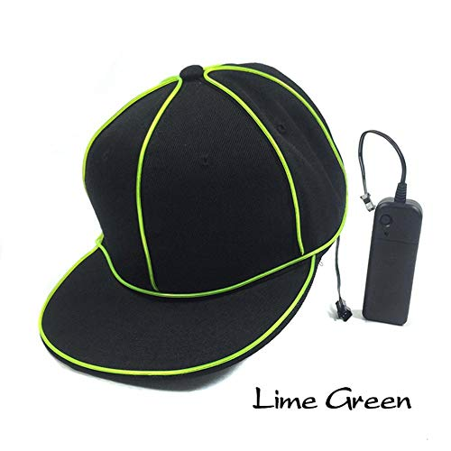 EL Flash Cap Berretto luminoso EL Wire Fashion Neon luce LED Glow Rave Costume Party brillante cappello Fluorescent Dance Performance Bar Party Regali atmosfera Requisiti D -