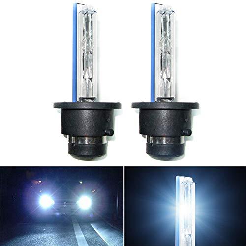 Beesclover Lot de 2 ampoules de phares antibrouillard 35 W D2S/D2C/D2R Xenon HID 4300 K-12000 K 12000 K