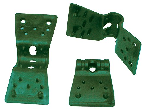 Tenax 06834 Clip Plastique Vert 3,5 cm Lot de 24