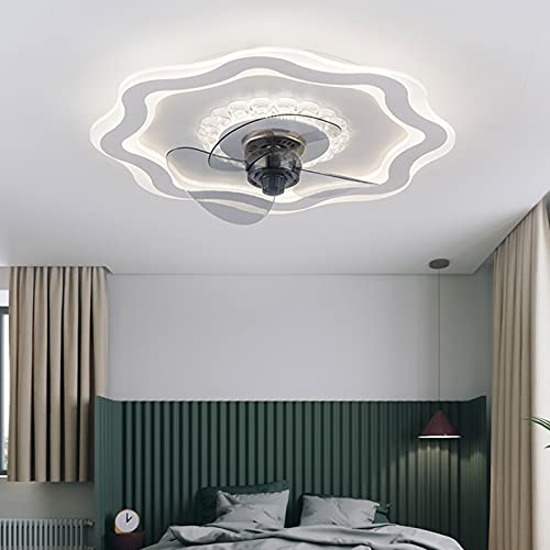 Ventilador de techo de 230 V con mando a distancia, luz de 3 colores, lámpara de techo regulable, adecuado para habitaciones grandes en salas de estar, pasillos, etc.