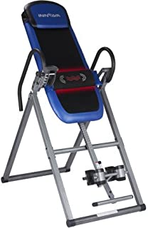 Innova Fitness ITM4800 Advanced Heat and Massage Therapeutic Inversion Table Max Weight Capacity 300 Lbs