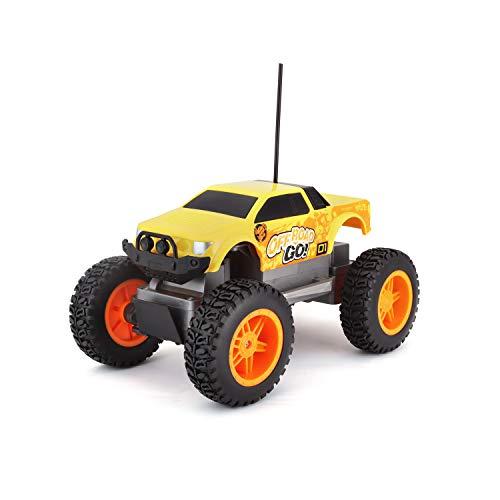 Maisto Tech R/C Off Road Go RTR: Ferngesteuertes Auto in Monstertruck-Ausführung, ab 5 Jahren, mit Fernbedienung und Batterien, 21 cm, gelb-orange (581762)