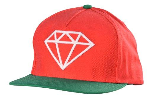 Diamond Supply Co. Rock Logo Snapback Cap rot grün verstellbar