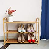 3 Tier Shoe Rack for Women, Natural Wooden Shoe Rack for Men, Vertical Shoe Rack Organizer, Complete Boards, Better Place 12 Pairs High Heels/9 Mens Shoe, Premium Shoe Storage Organizer for Entryway
