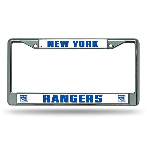 NHL Rico Industries Standard Chrome License Plate Frame, New York Rangers