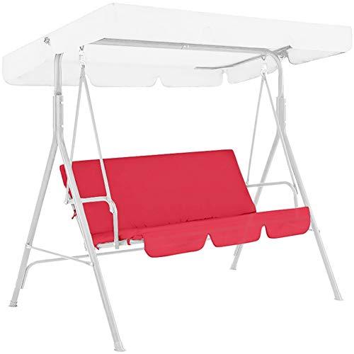 FANTESI QiaoerPio Swing Seat Hammock Bench Cushion, Outdoor Patio Furniture Cushion Seat, Waterproof Swing Seat Cover Cushion Cover Patio Chair Protection(Red)