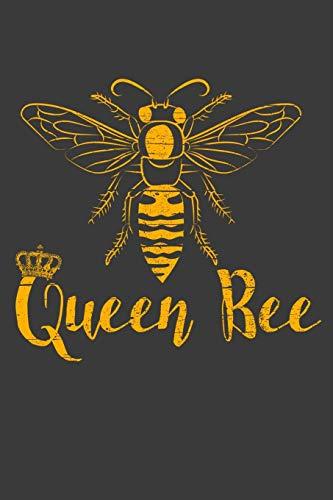 Queen Bee: 120 Seiten (6x9 Zoll) Blanko Notizbuch für Queen Bee Freunde I Bienenkönigin Leeres Notizheft I Bienen Zeichenbuch I Honig Skizzenbuch