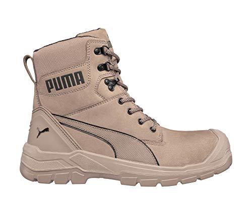 PUMA Safety Conquest Stone HIGH Arbeitsstiefel Sicherheitsstiefel Sicherheitsschuh Arbeitsschuh S3 HRO SRC Fiberglaskappe Durchtrittschutz rutschfest hitzebeständig (Numeric_42)