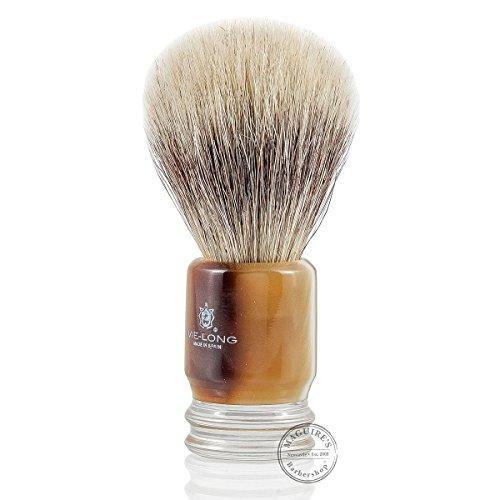 Vie-Long 13052 Horse Hair Shaving Brush, Brown Acrylic Handle