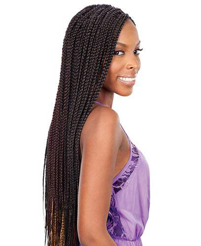 FreeTress Synthetic Hair Crochet Braid Medium Box Braids (6-Pack, 1B)