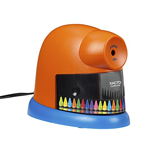 X-ACTO Crayon Pro Electric Crayon Sharpener, Electric Sharpener with SafeStart Automatic Motor, Great for Home or Schools