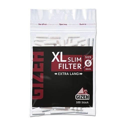 Zigarettenfilter Gizeh Black XL Slim 20 Beutel à 100 Filter