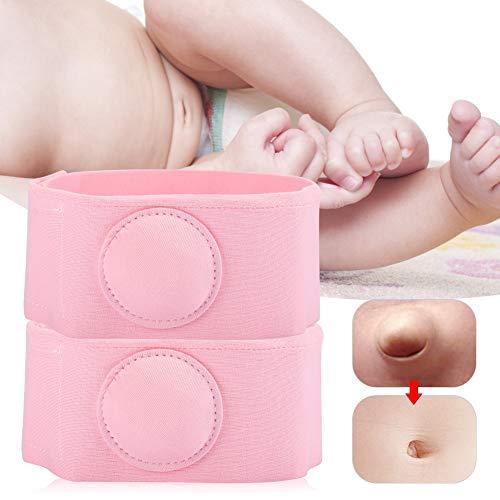 Cinturón de hernia para bebés, tratamiento de cinturón de hernia de 2 piezas para terapia de hernia para niños cinturón de hernia umbilical para recién nacidos cinturón (Rosado)